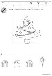 Sur et sous le sapin – Espace– Noël – Maternelle – Petite section – Moyenne section – Cycle 1