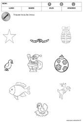 Trouver les objets de Noël - Logique – Noël – Maternelle – Petite section – Moyenne section – Cycle 1