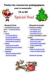 Noël – Dossier pédagogique – Toutes les ressources pour la maternelle: Petite et moyenne section – PS – MS