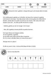Lecture du mot galette – Fête des rois – Maternelle – Petite section – Moyenne section – PS – MS