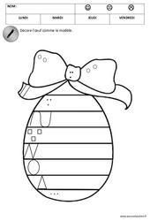 Graphisme – Pâques – Maternelle – Moyenne section – MS