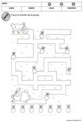 Logique – Pâques – Maternelle – Petite section – PS