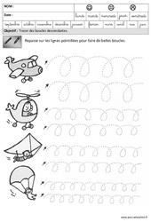 Boucles – Descendantes – Graphisme – Maternelle – Grande section – GS