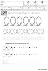 Boucles – Montantes – Graphisme – Maternelle – Grande section – GS