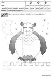 Fiches pédagogiques – Exercices – Graphisme – Maternelle – Grande section – GS