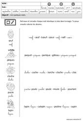 Pâques – Lire des mots en cursive – Maternelle – Grande section – GS – Cycle 2