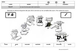 Lire les jours de la semaine en cursive – Lecture – Maternelle – Grande section – GS – Cycle 2
