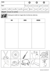 Syllabes - Phonologie – Maternelle – Grande section – GS – Cycle 2