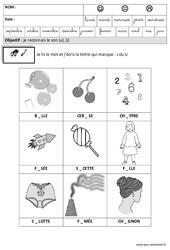 J'entends u ou i et j'écris - Phonologie– Maternelle – Grande section – GS – Cycle 2