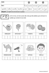 Son [O] dans la syllabe - Phonologie – Maternelle – Grande section – GS – Cycle 2