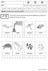 Son [U] dans la syllabe - Phonologie – Maternelle – Grande section – GS – Cycle 2