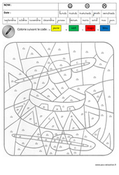 Coloriage magique – Lecture – Maternelle – Grande section – GS – Cycle 2