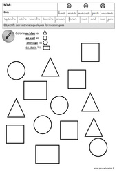 Formes – Maternelle – Grande section – GS – Cycle 2