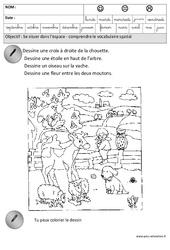 Comprendre le vocabulaire spatial – Espace – Maternelle – Grande section – GS – Cycle 2