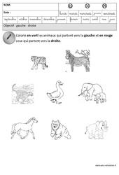 Gauche – Droite – Espace – Maternelle – Grande section – GS – Cycle 2