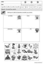 Saisons – Temps – Maternelle – Grande section – GS – Cycle 2
