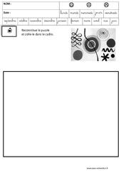 Calder – Puzzle – Logique – Maternelle – Grande section – GS – Cycle 2