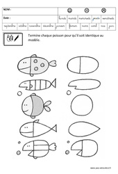 Terminer un dessin – Logique – Maternelle – Grande section – GS – Cycle 2