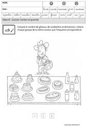 Associer nombres et quantités – Maternelle – Grande section – GS – Cycle 2