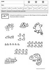 Comparer les quantités – Maternelle – Grande section – GS – Cycle 2