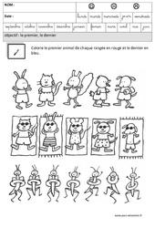 Premier - Dernier - Comparer les quantités – Maternelle – Grande section – GS – Cycle 2