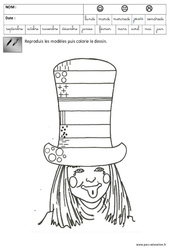 Graphisme – Carnaval – Maternelle – Grande section – GS – Cycle 2
