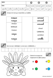 Lecture – Ecriture – Carnaval – Maternelle – Grande section – GS – Cycle 2