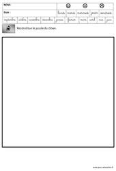 Puzzle – Logique – Carnaval – Maternelle – Grande section – GS – Cycle 2