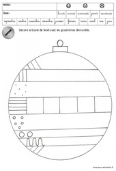 Décore les boules – Etoiles de noël – Graphisme – Noël – Maternelle – Grande section – GS – Cycle 2