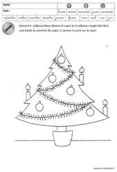 Devant, Derrière, Sur, Couleurs - Sapin - Espace - Noël – Maternelle – Grande section – GS – Cycle 2