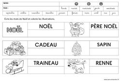 Ecrire des mots – Noël – Maternelle – Grande section – GS – Cycle 2
