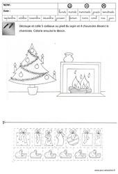 Nombres - Quantités - Noël – Maternelle – Grande section – GS – Cycle 2