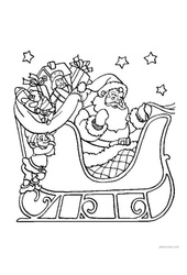 Coloriages – Noël – Maternelle – Grande section – GS – Cycle 2