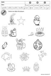 Logique – Pâques – Maternelle – Grande section – GS – Cycle 2