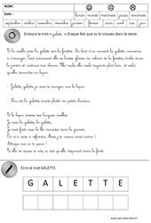 Lecture – Galette – Fête des rois – Maternelle – Grande section – GS – Cycle 2