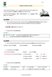 Radical, préfixe, suffixe – Cm1 – Leçon