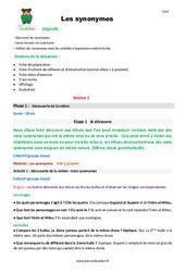 Synonymes - Cm2 - Fiche de préparation