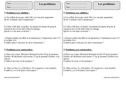 Problèmes – Ce2 – Exercices corrigés – Calcul – Mathématiques – Cycle 3
