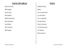 Fête des Pères - Chants - Comptines - Maternelle - Petite section - Moyenne section - Grande section: PS - MS - GS