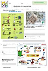 Impact environnemental – 6ème – Exercices