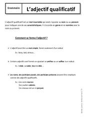 Adjectif qualificatif – 6ème – Cours