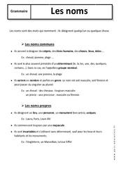 Noms – 6ème – Cours – Communs et propres