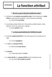 Attribut – 6ème – Cours – Fonctions grammaticales