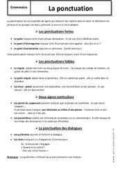 Ponctuation – 6ème – Cours – Analyse de la phrase