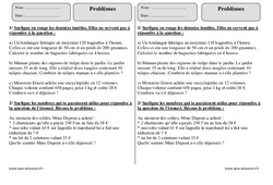 Problèmes - Calculs – Ce2  – Exercices corrigés – Mathématiques – Cycle 3