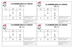 Multiplication en colonne – Ce1 - Leçon