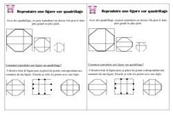 Reproduire un dessin sur quadrillage – Ce1 - Leçon