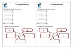 Compléments à 10 – Ce1 – Exercices – Numération – Mathématiques – Cycle 2