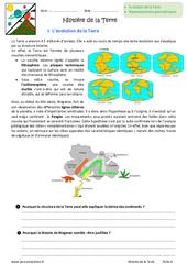 Histoire de la Terre - 6ème - Exercices