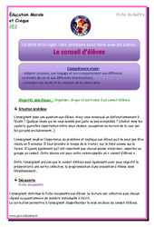 Conseil d'élèves – Ce2 – EMC